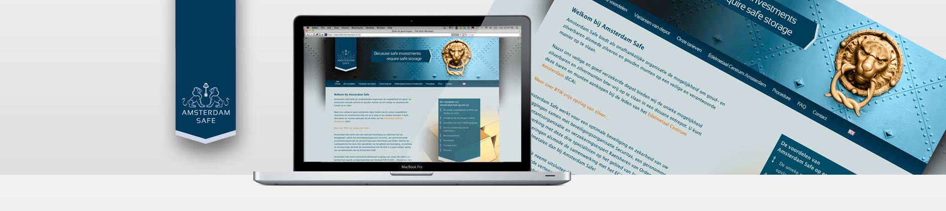 Portfolio - Amsterdam Safe - website - Header