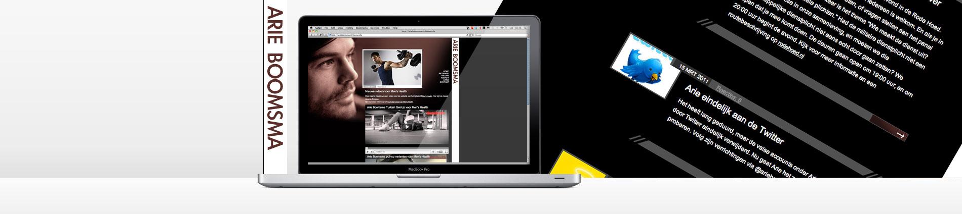 arie boomsma, persoonlijke website l aten maken, personal branding