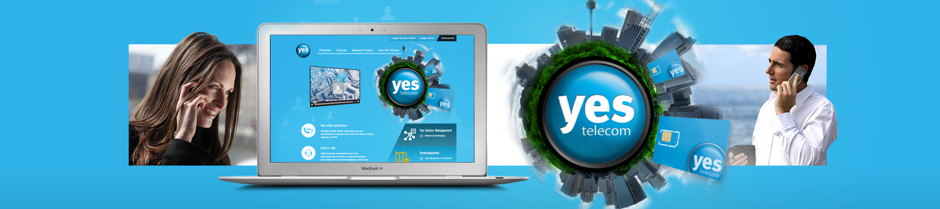 yes telecom, webdevelopment, front-end development, webdesign, wordpress website laten maken